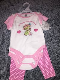 baby's pink and white onesie Palm Springs, 92262