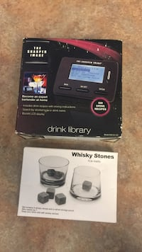 The sharper image drink library box and Whisky stones box Wildomar, 92595