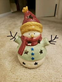 Snowman candle holder Olney