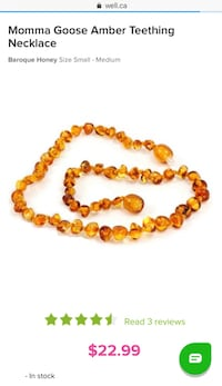 Baby Teething Amber Necklace Barrie, L4M