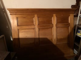 PJ Milligan Queen size headboard with 2 matching night stands