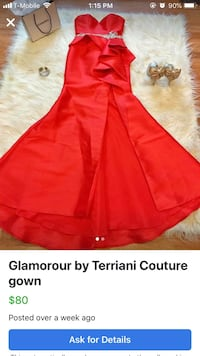 Red glamour couture dress new with tags size 6 Wichita, 67208