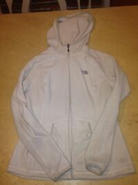 White the north face full zipped hoodie