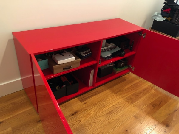 Credenza Console : Used cb red lacquered credenza console for sale in fort lee letgo