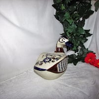 Large Hand Painted Pottery Duck Mexico Mexican Mississauga