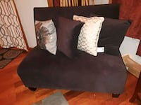 black suede sofa with throw pillows Gaithersburg, 20877