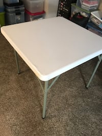New plastic card table