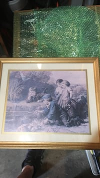 brown wooden framed painting of woman Daly City, 94015