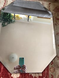 Mirror Octagon Frameless Wall Mirror Bevel Polish with 3 Hooks Clear Westwood, 02090