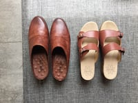 Beautiful Leather Slides - size 10 and 11.  $25 each Burke
