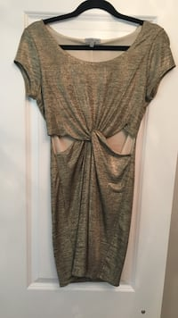 """Gold party """"cut out"""" dress  Brantford, N3R"""