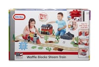 New Little Tikes Waffle Blocks Steam Train Silver Spring