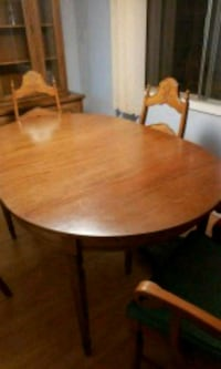 round brown wooden table with four chairs dining s Surrey, V3W 1M6