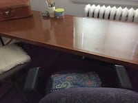 Solid wood fold out table 6' Toronto, M3J 2B8