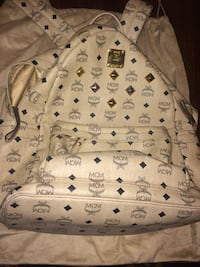MCM BEIGE VISETOS STARK STUDDED BACKPACK Centreville, 20121
