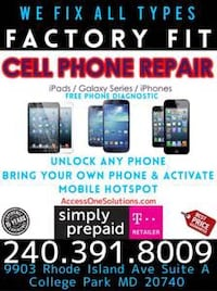 iPhone, iPad, Galaxy Repair, Unlock & Activations