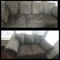 gray suede 3-seat sofa Ashburn, 20147
