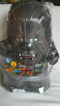 BNIP Rubieas Star Wars Chewbacca Halloween Candy Bowl Milton