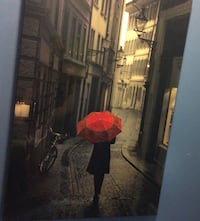 Ready to hang picture of girl with umbrella Laval, H7N 3S1