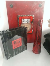 Black and red glass decor  Barrie, L4M 2R6