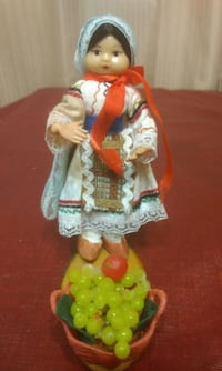Small Lamp and doll with Artificial Fruits null