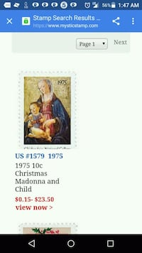 Christmas Madonna and Child postage stamp screenshot Los Angeles, 90037