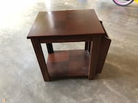 Square brown wooden side table Asheboro, 27317