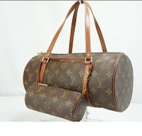 brown monogrammed Louis Vuitton leather tote bag College Park, 30320