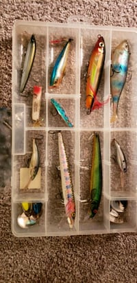 Box of large fishing lures  Minneapolis, 55428