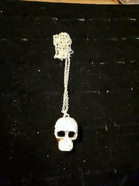 skull with  stones necklace ..