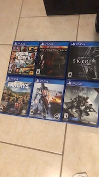 six Sony PS4 game cases Falls Church, 22041