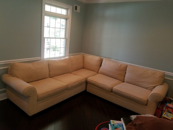 Brilliant Used Sectional Sofa Pottery Barn For Sale In Montvale Letgo Inzonedesignstudio Interior Chair Design Inzonedesignstudiocom