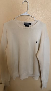 white Polo sweater