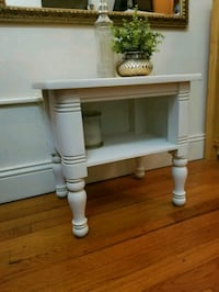 white wooden single-drawer end table Colonie, 12205