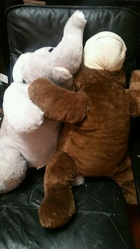 two brown and white elephant plush toys Markham, L3P