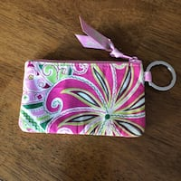Authentic Vera Bradley Wallet ID Holder Keychain Floral Paisley Haverhill, 01832