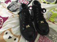 pair of black Michael Kors high-top shoes size:2