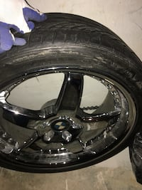 16 in. Chrome bmw 5-spoke vehicle wheel with tread. 250each Bowie, 20720
