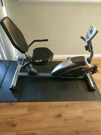 black and gray recumbent stationary exercise bike Mountain View