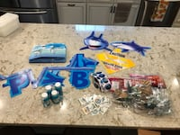 Lot of Shark Themed Birthday Supplies Manassas