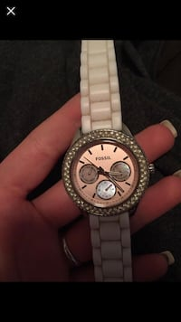 round gold Michael Kors chronograph watch with gold link bracelet North Chesterfield, 23235