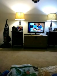 flat screen TV and white wooden TV stand Maryville, 37803