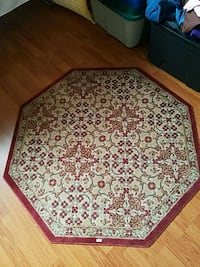 white, red, and green floral area rug Crestwood, 60418