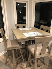 New kitchen table and chairs for Valentine's Day!