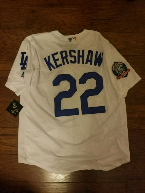 innovative design 42723 ee98c Clayton Kershaw Dodger jersey