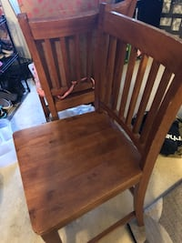 4 wooden chairs - Round wooden Table sold sep. Colorado Springs, 80918