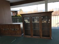 brown wooden cabinet with mirror Kelowna, V1W 2G3