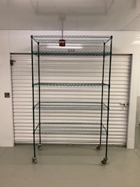"Extra Large Wire Shelving Rack - 54"" Wide - Green Horsham, 19044"