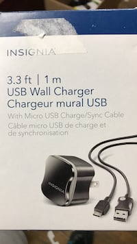 3.3 ft. Insignia USB wall charger box 546 km
