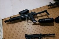 black and gray paintball marker 2146 km